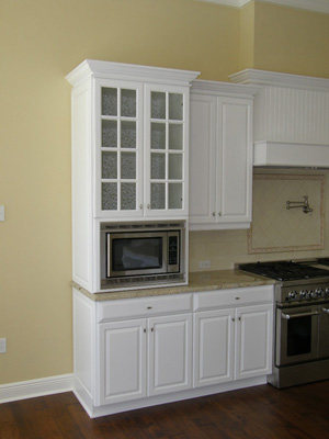 Etonnant Microwave Built Into Wall Cabinets